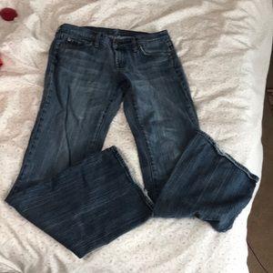 7 FAM Flare Leg Low Rise Jeans sz 30